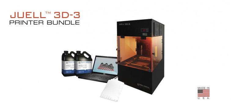 JUELL™ 3D-3 Printer Bundle