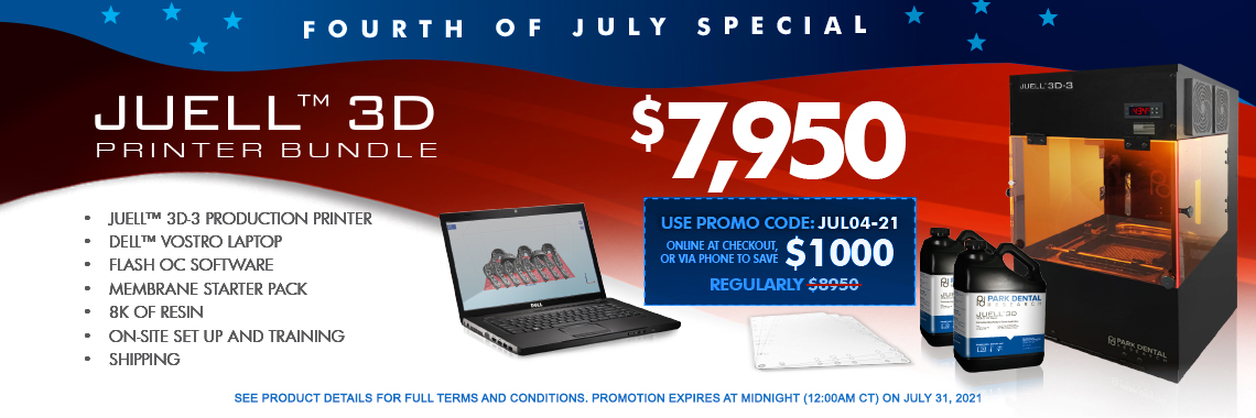 July 4 Special - JUELL 3D Printer Bundle
