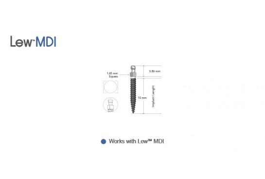 Lew™ MDI 2.0 mm O-Ball, Non-Collared Implants