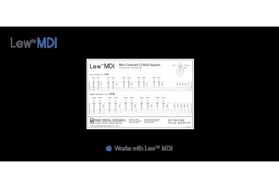 Lew™ MDI Radiographic Transparencies