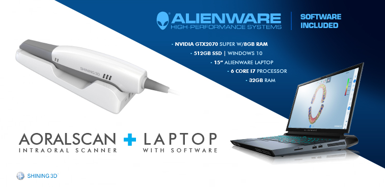 Aoralscan Intraoral Scanner + Alienware Laptop with Software
